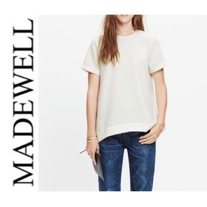 Madewell Tailored Tee Creamy White Size Large